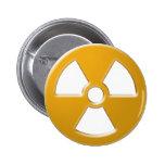 Advertencia nuclear pin redondo 5 cm