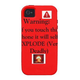 Advertencia: Para el iphone 4 4s Vibe iPhone 4 Funda