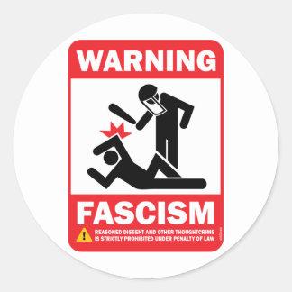 ¡Advertencia Pegatina de Facism