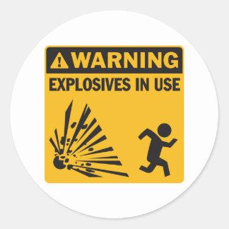 ¡Advertencia! Pegatina funcionando de los