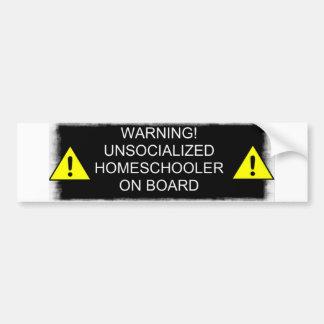¡Advertencia! Pegatina para el parachoques Pegatina Para Auto