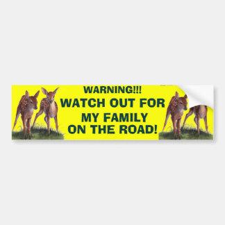 ¡ADVERTENCIA!! Pegatina para el parachoques Pegatina Para Auto