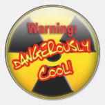 Advertencia: Peligroso fresco Pegatinas