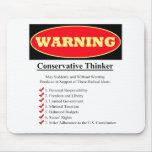Advertencia: Pensador conservador Tapetes De Ratones