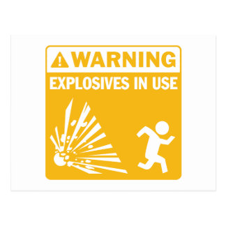 ¡Advertencia Postal funcionando de los explosivos