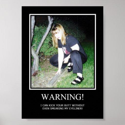 Advertencia Póster