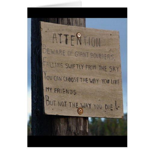 Advertencia profética del meteorito 2012 o de la a tarjeta de felicitación