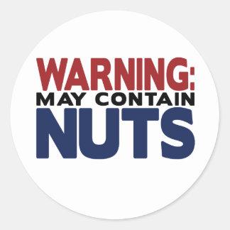 ADVERTENCIA: PUEDE CONTENER al pegatina NUTS
