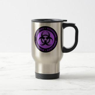 Advertencia púrpura del Biohazard Taza De Viaje De Acero Inoxidable