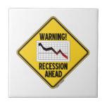 ¡Advertencia! Recesión a continuación (muestra ama Azulejo Ceramica