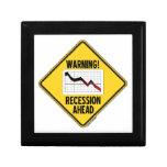 ¡Advertencia! Recesión a continuación (muestra ama Cajas De Joyas