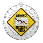 ¡Advertencia! Recesión a continuación (muestra ama Tablero De Dardos