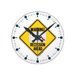 ¡Advertencia! Recesión a continuación (muestra ama Relojes