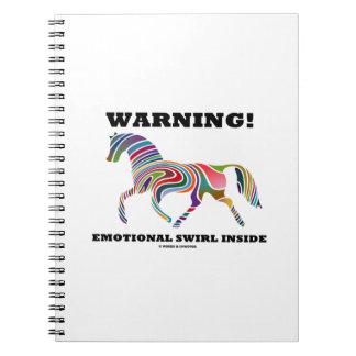 ¡Advertencia! Remolino emocional dentro Libros De Apuntes Con Espiral