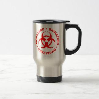 Advertencia roja del Biohazard Taza De Viaje De Acero Inoxidable