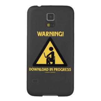 ¡Advertencia! Señalización en curso del humor del Fundas De Galaxy S5