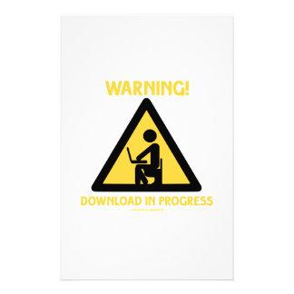 ¡Advertencia! Señalización en curso del humor del Papeleria Personalizada