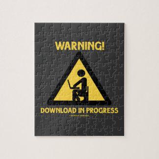 ¡Advertencia! Señalización en curso del humor del Puzzle
