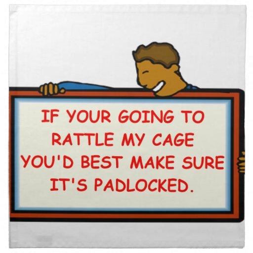 advertencia servilletas de papel