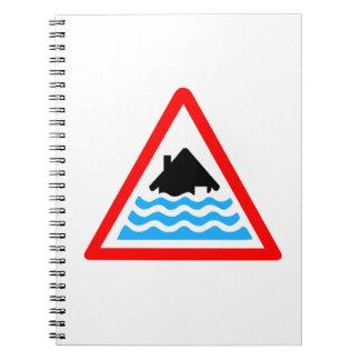 Advertencia severa de la inundación libreta espiral