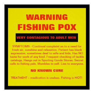 ADVERTENCIA - sífilis de la pesca Posters