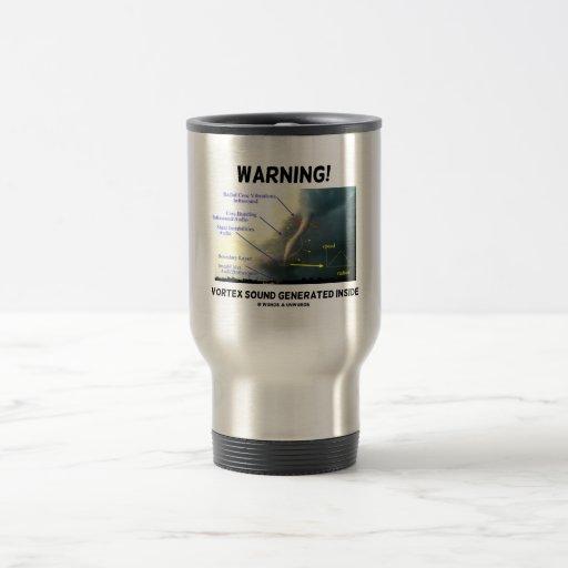 ¡Advertencia! Sonido del vórtice generado dentro Taza