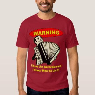 Advertencia: ¡Tengo un acordeón y sé utilizarlo! Poleras