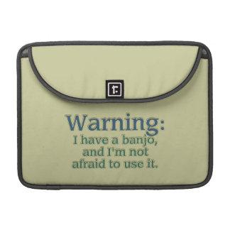 Advertencia: Tengo un banjo…. Funda Para Macbook Pro