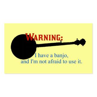 Advertencia: Tengo un banjo… Tarjetas De Visita