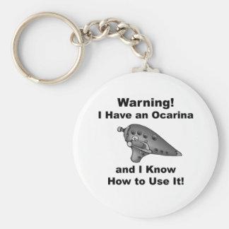 ¡Advertencia Tengo un Ocarina Llaveros Personalizados