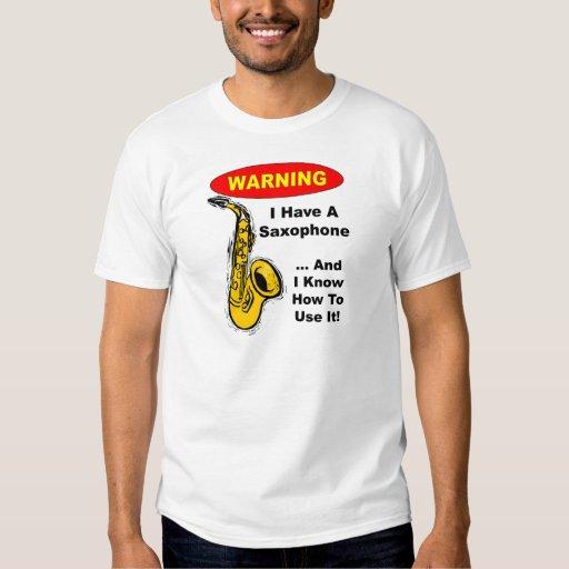 Advertencia. Tengo un saxofón… Poleras