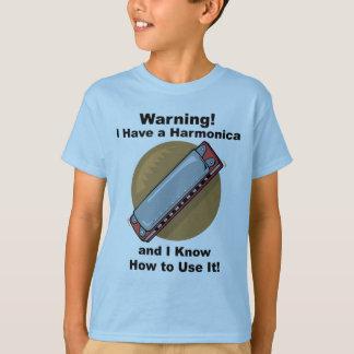 ¡Advertencia! Tengo una armónica… Playera