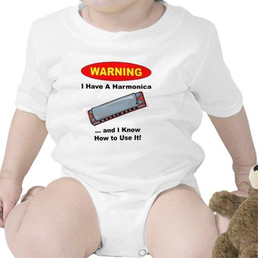 ¡Advertencia! Tengo una armónica… Trajes De Bebé