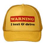 Advertencia - texto y impulsión de I Gorras