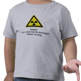 Advertencia tóxica camisetas