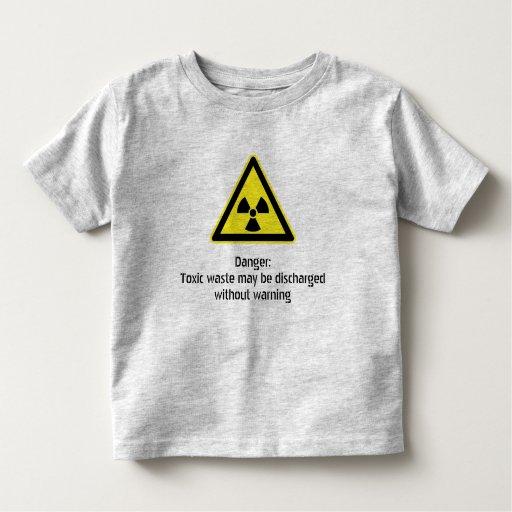 Advertencia tóxica playera de bebé