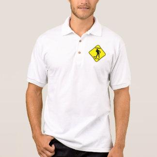Advertencia: Zombis - camiseta del polo de los hom