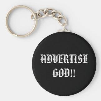 ADVERTISE GOD!!... Religious keychain