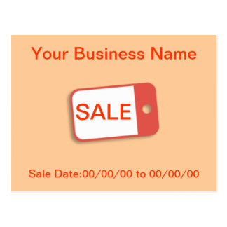 Advertise Sale Postcard
