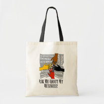 advertise, your, business, budget, tote, cotton, slim, fashionable, design, wahm, Bag with custom graphic design