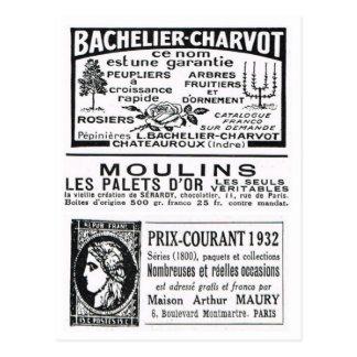 Advertisement, Bachelier Charvot Postcard