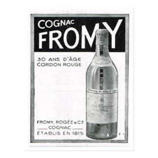 Advertisement,  Cognac Fromy Postcard