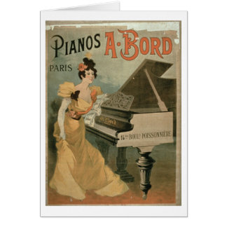 Advertisement for 'A. Bord Pianos, Paris' (colour Card