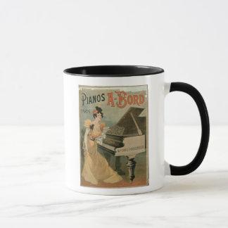 Advertisement for 'A. Bord Pianos, Paris' (colour Mug