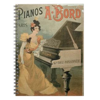 Advertisement for 'A. Bord Pianos, Paris' (colour Notebooks