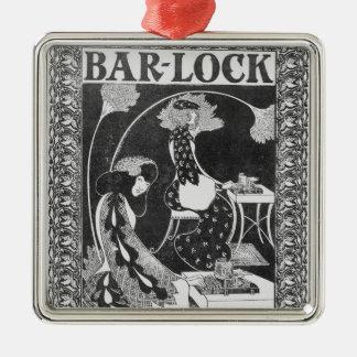 Advertisement for Bar-Lock Typewriters, c.1895 Metal Ornament