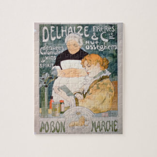 Advertisement for Delhaize, Brothers and Co. at th Jigsaw Puzzle