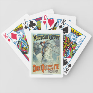 Advertisement for 'Don Quixote, New Circus', Horse Bicycle Playing Cards