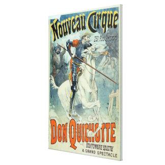 Advertisement for 'Don Quixote, New Circus', Horse Canvas Print