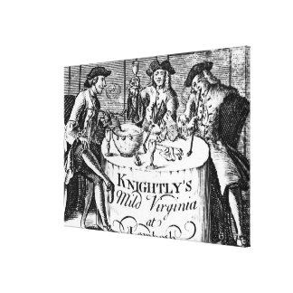 Advertisement for 'Knightly's Mild Virginia Stretched Canvas Print